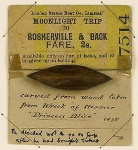 n unused ticket for the Princess Alice. © National Maritime Museum, London